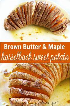 Brown Butter & Maple Hasselback Sweet Potato