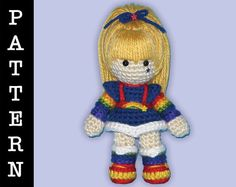 Crochet Pattern  Amigurumi Rainbow Brite Doll by ShadyCreations, $5.00 can someone make this for me!!!!