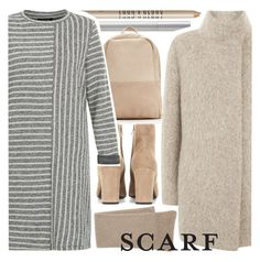 """""""soft winter"""" by foundlostme ❤ liked on Polyvore featuring rms beauty, Lord & Berry, Yves Saint Laurent, Mint Velvet, Portolano and scarf"""