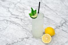 Easy Street: Plymouth Gin, St. Germain Liqueur, Lemon Juice, Simple Syrup, Cucumber Wheels.