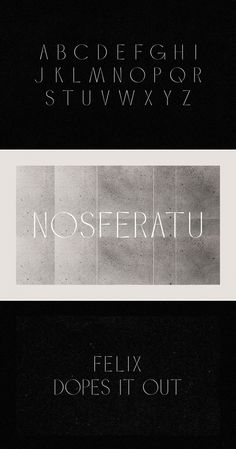 Silent Film Noir typography exploration by Charlene Sepentzis