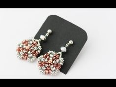 DIY - TUTORIAL Orecchini Victoria con rice beads, swarovski e rocailles - YouTube
