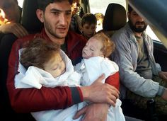 4:4/17 A father bids farewell to twin toddlers after Syria attack