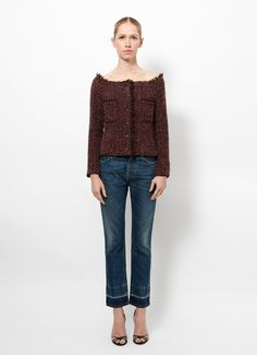 Chanel | F/W 2002 Aubergine Knit  | RESEE