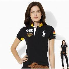 e5c7e47c57bcb Bargain Price Ralph Lauren Women Nation Flag Polo Germany PA076439