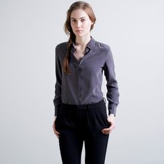 The Silk Rounded Collar - Mulberry – Everlane