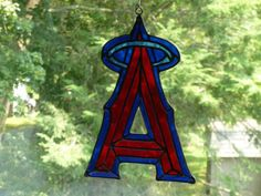 MLB Angels Baseball inspired Stained Glass on Etsy, $44.00