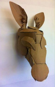 cardboard mask template - Google Search Cardboard Mask, Cardboard Costume, Cardboard Animals, Cardboard Sculpture, Cardboard Crafts, Paper Mache Sculpture, Paper Crafts, Skull Template, Mask Template