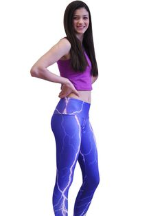 Om Shanti Clothing - Violet Lightning Legging