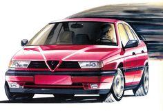 Alfa Romeo 155 styling sketch