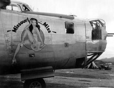 "https://flic.kr/p/54CJNn | B-24 Liberator | ""Missouri Miss"" Consolidated B-24M-1-CO Liberator s/n 44-41811 528th Bomb Squadron, 380th Bomb Group, 5th Air Force. She flew a total of 58 missions, 7 with the 528th BS and 51 with the 530th BS, in her 6 months of combat service from Feb.-Aug. 1945. Was scrapped at RFC Kingman,Arizona on Oct. 21,1945 after being in the AAF for ten days less than a year."