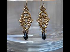 Sidonia's handmade jewelry - Losange earrings - #Seed #Bead #Tutorials