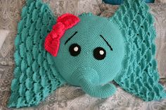 Check out this item in my Etsy shop https://www.etsy.com/listing/455145582/handmade-crochet-elephant-pillow