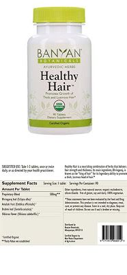 Healthy Hair Banyan Botanicals Healthy Hair - Certified Organic, 90 Tablets - Promotes Growth of Thick and Lustrous Hair $22.77 & FREE Shipping on orders over $35.