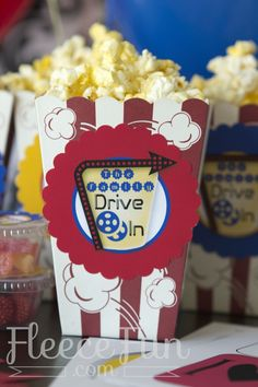 """Love all these """"Drive In"""" movie theater printables for an at home movie night!  Such a fun idea."""