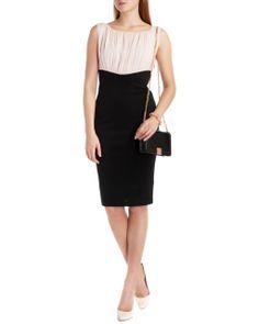 http://www.tedbaker.com ROWE Gathered top dress      £159
