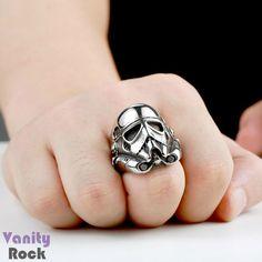 Anel Stormtrooper  Aço Inox  Loja Online: www.vanityrock.com.br