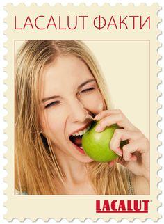 Неверојатно, но апсолутно точно: кога џвакаме или гриземе храна, нашите заби делуваат со сила од 9 до 15 килограми. #LacalutФакти http://natusana.mk/natusana-proizvodi/lacalut/