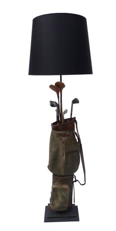 Golf bag standard lamp another gem of a light from Antiques By Design  Abby  Buckridge d5e4b5369d35