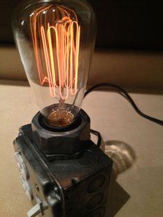 industrial desk lamp Dark finish by MartyBelkDesigns on Etsy