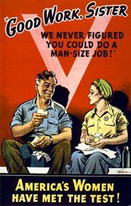 """""""America's working women were praised during the war, but when the war ended they were encouraged to return to homemaking.""""  Yeah...like there was a lot of choice in the matter...nice insult this poster put forth, by the way..."""