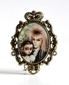 The Labyrinth - special edition printed cameo necklace by Mab Graves