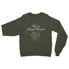 It's a Landrover, Not a flipping jeep. Heavy Blend Crew Neck Sweatshirt