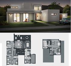 Planos de Casas Gratis: Casa Mediterranea 241 m2