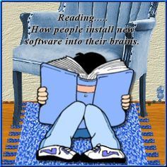 Reading . . . How people install new software into their brains.