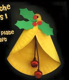 Christmas Craft for kids, Christmas bell craft, Paper plate Christmas Bell Craft for Kids, Christmas Bell Ornament craft, Christmas paper craft Christmas Arts And Crafts, Christmas Bells, Christmas Activities, Christmas Projects, Holiday Crafts, Christmas Holidays, Christmas Paper, Crochet Christmas, Spring Crafts