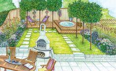 Perfect Home Vegetable Garden Design Ideas - New ideas Home Vegetable Garden Design, Garden Design Plans, Garden Landscape Design, Little Gardens, Back Gardens, Outdoor Gardens, Backyard Ideas For Small Yards, Small Backyard Landscaping, Backyard Layout