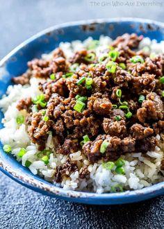 Cheater Korean Beef - an easy family dinner.