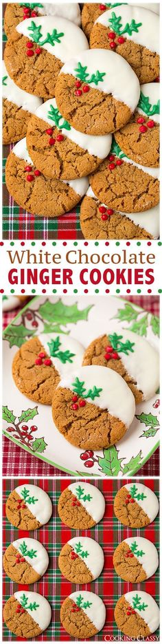 White Chocolate Ginger Cookies Recipe - (cookingclassy)