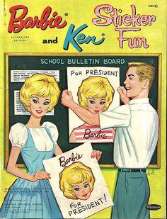 Barbie and Ken Sticker fun 1962 Whitman (front) | Flickr - Photo Sharing!