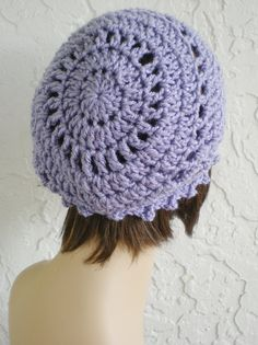 hand crochet Tam rasta beanie Hat chic slouch lavender Bonnet Fille,  Crochet De Main, 4d0a7c4521a