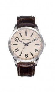 Colección Classic - HC6003-25. Reloj de caballero en tres agujas. Esfera beige y correa marrón. Impermeable 30 metros (3ATM). Precio: 39,00 €