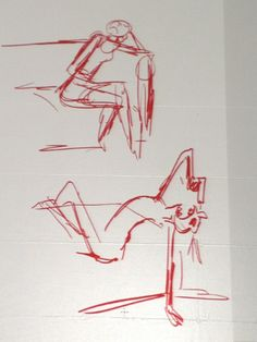 "Extrapolation - seeing beyond the pose, ""Nobody is going to know if you changed the pose, just make it interesting;""use the model as your jumping off point, don't be married to it.  In the photo below the top drawing is of the model's actual pose, the bottom is how Matt interpreted it."