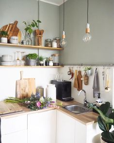 Natural Home Decor .Natural Home Decor Mini Kitchen, New Kitchen, Ikea Small Kitchen, Little Kitchen, Home Decor Kitchen, Home Kitchens, Kitchen Ideas, Bright Kitchens, Küchen Design