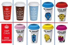 Mug lid keep calm ceramic #travel cup take away #coffee hot tea #office home drin,  View more on the LINK: http://www.zeppy.io/product/gb/2/252267971235/