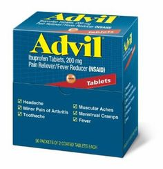 Advil Pain Reliever Single Packets - For Headache, Muscular Pain, Backache, Arthritis, Menstrual Cramp - 50 / Box (Pack of Hangover Remedies, Sore Muscles, Arthritis, Pain Relief, The Cure, Personal Care, Wedding Favors, Wedding Bags, Wedding Ideas