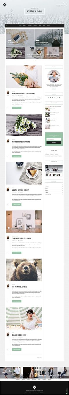 Kamion is elegant and modern #design responsive #WordPress theme for beautiful #blog with 8 homepage layouts download now➩ https://themeforest.net/item/kamion-responsive-wordpress-blog-theme/16858182?ref=Datasata