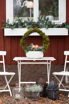 Fyra årstider, mitt liv på landet - Scandi Christmas, Country Christmas, Before Christmas, All Things Christmas, Stockholm, Winter Decorations, Table Decorations, Garden Crafts, Greenery