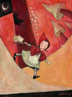 red riding hood - by Ofra Amit