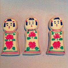 こけしちゃん。#icingcookie #こけし#kokeshi (Instagramで撮影)