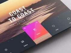 Weather Dashboard | Tablet app user interface design #UI #mobile