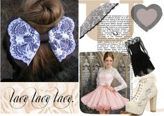 """""""lace!"""" by echapps ❤ liked on Polyvore"""