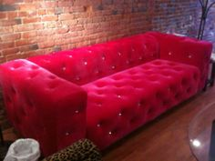 ❤ Couch. Can't tell if its hot pink or red, but i LOVE it either way :)