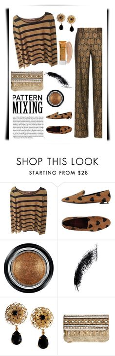 """""""Mix Master"""" by patricia-dimmick on Polyvore featuring Calypso St. Barth, Burberry, Giorgio Armani, Whiteley, CC, Dolce&Gabbana, Skemo and patternmixing"""