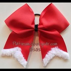 christmas cheer bows.these would be so cute to wear in the Christmas parade.