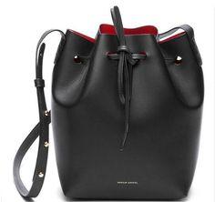 Mansur Gavriel Bucket Bag Women PU Leather String Shoulder Composite Bags Set Designer With Logo Pouch Neverfull Crossbody bags